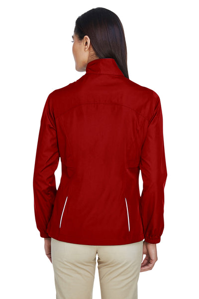 Core 365 78183 Womens Motivate Water Resistant Full Zip Jacket Red Back