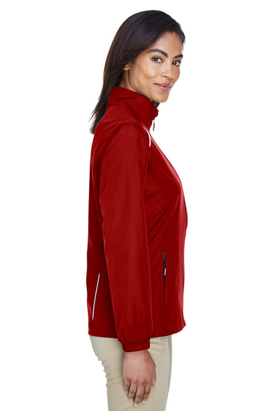 Core 365 78183 Womens Motivate Water Resistant Full Zip Jacket Red Side