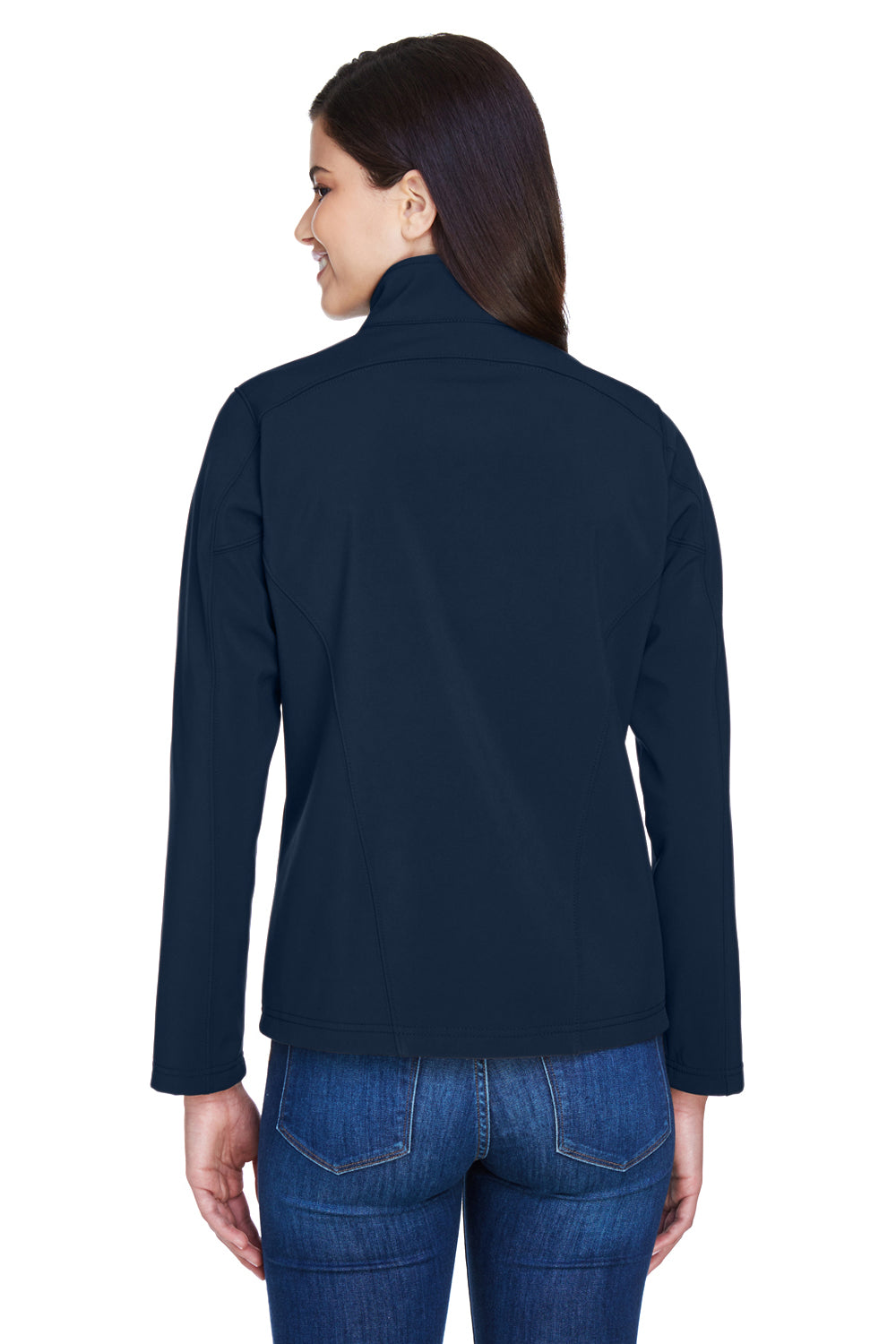 Core 365 78184 Womens Cruise Water Resistant Full Zip Jacket Navy Blue Back