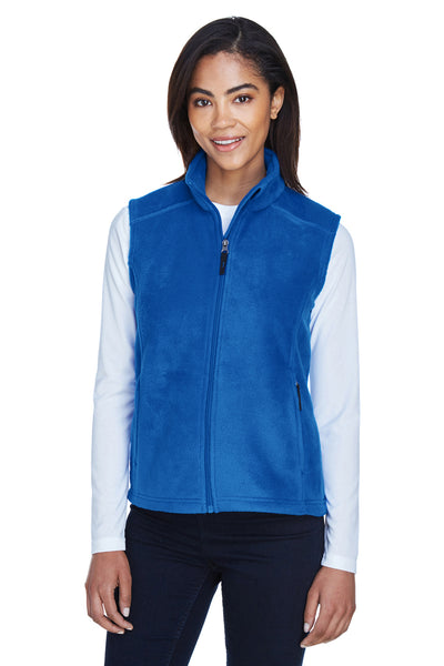 Core 365 78191 Womens Journey Full Zip Fleece Vest Royal Blue Front