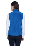 Core 365 78191 Womens Journey Full Zip Fleece Vest Royal Blue Back
