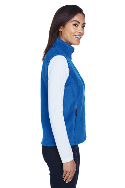 Core 365 78191 Womens Journey Full Zip Fleece Vest Royal Blue Side