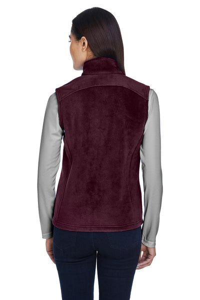 Core 365 78191 Womens Journey Full Zip Fleece Vest Burgundy Back