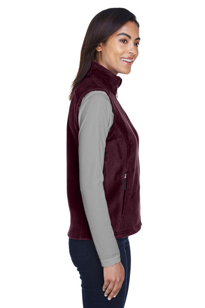 Core 365 78191 Womens Journey Full Zip Fleece Vest Burgundy Side