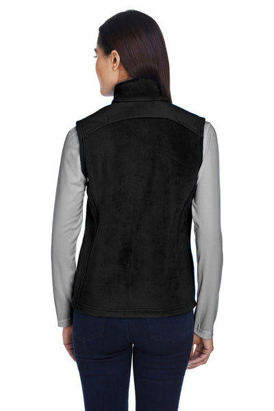 Core 365 78191 Womens Journey Full Zip Fleece Vest Black Back