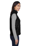 Core 365 78191 Womens Journey Full Zip Fleece Vest Black Side