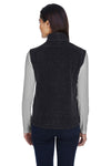 Core 365 78191 Womens Journey Full Zip Fleece Vest Heather Charcoal Grey Back
