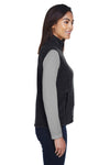 Core 365 78191 Womens Journey Full Zip Fleece Vest Heather Charcoal Grey Side
