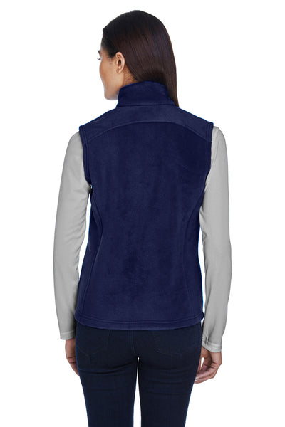Core 365 78191 Womens Journey Full Zip Fleece Vest Navy Blue Back