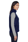 Core 365 78191 Womens Journey Full Zip Fleece Vest Navy Blue Side