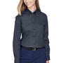 Core 365 Womens Operate Long Sleeve Button Down Shirt - Carbon Grey