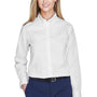 Core 365 Womens Operate Long Sleeve Button Down Shirt - White