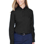 Core 365 Womens Operate Long Sleeve Button Down Shirt - Black