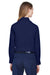 Core 365 78193 Womens Operate Long Sleeve Button Down Shirt Navy Blue Back
