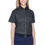 Core 365 Womens Optimum Short Sleeve Button Down Shirt - Carbon Grey