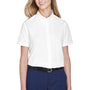 Core 365 Womens Optimum Short Sleeve Button Down Shirt - White