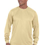 Augusta Sportswear Mens Vegas Gold Moisture Wicking Long Sleeve Crewneck T-Shirt