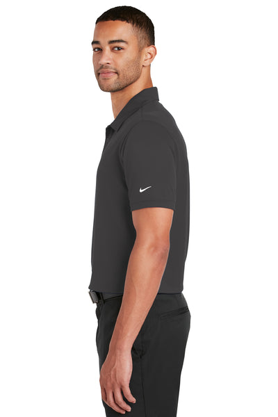 Nike 799802 Mens Players Dri-Fit Moisture Wicking Short Sleeve Polo Shirt Anthracite Grey Side