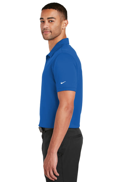 Nike 799802 Mens Players Dri-Fit Moisture Wicking Short Sleeve Polo Shirt Royal Blue Side
