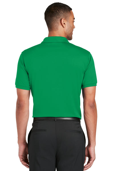 Nike 799802 Mens Players Dri-Fit Moisture Wicking Short Sleeve Polo Shirt Kelly Green Back