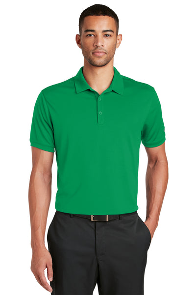Nike 799802 Mens Players Dri-Fit Moisture Wicking Short Sleeve Polo Shirt Kelly Green Front