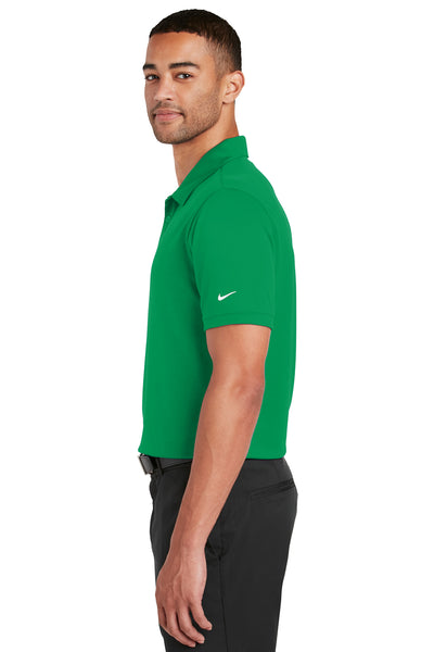 Nike 799802 Mens Players Dri-Fit Moisture Wicking Short Sleeve Polo Shirt Kelly Green Side