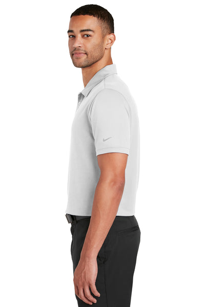 Nike 799802 Mens Players Dri-Fit Moisture Wicking Short Sleeve Polo Shirt White Side