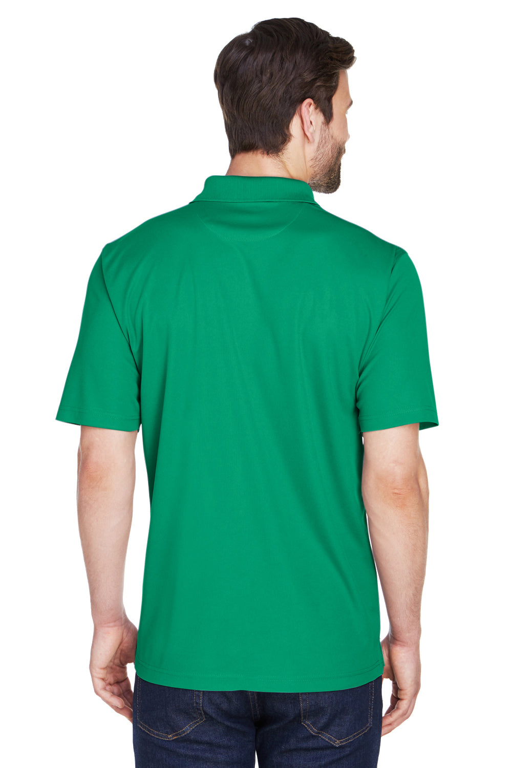 UltraClub 8210 Mens Cool & Dry Moisture Wicking Short Sleeve Polo Shirt Kelly Green Back
