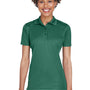 UltraClub Womens Cool & Dry Moisture Wicking Short Sleeve Polo Shirt - Forest Green