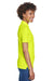 UltraClub 8210L Womens Cool & Dry Moisture Wicking Short Sleeve Polo Shirt Bright Yellow Side