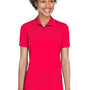 UltraClub Womens Cool & Dry Moisture Wicking Short Sleeve Polo Shirt - Red