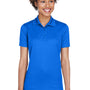 UltraClub Womens Cool & Dry Moisture Wicking Short Sleeve Polo Shirt - Royal Blue