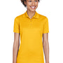 UltraClub Womens Cool & Dry Moisture Wicking Short Sleeve Polo Shirt - Gold