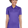 UltraClub Womens Cool & Dry Moisture Wicking Short Sleeve Polo Shirt - Purple