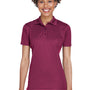 UltraClub Womens Cool & Dry Moisture Wicking Short Sleeve Polo Shirt - Maroon