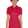 UltraClub Womens Cool & Dry Moisture Wicking Short Sleeve Polo Shirt - Cardinal Red