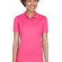 UltraClub Womens Cool & Dry Moisture Wicking Short Sleeve Polo Shirt - Heliconia Pink