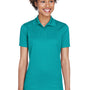 UltraClub Womens Cool & Dry Moisture Wicking Short Sleeve Polo Shirt - Jade Green