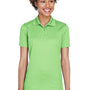 UltraClub Womens Cool & Dry Moisture Wicking Short Sleeve Polo Shirt - Light Green