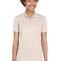 UltraClub Womens Cool & Dry Moisture Wicking Short Sleeve Polo Shirt - Stone