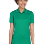 UltraClub Womens Cool & Dry Moisture Wicking Short Sleeve Polo Shirt - Kelly Green