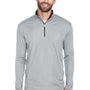 UltraClub Mens Cool & Dry Moisture Wicking 1/4 Zip Sweatshirt - Grey