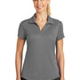 Nike Womens Legacy Dri-Fit Moisture Wicking Short Sleeve Polo Shirt - Dark Grey