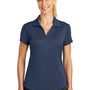 Nike Womens Legacy Dri-Fit Moisture Wicking Short Sleeve Polo Shirt - Midnight Navy Blue