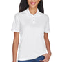 UltraClub Womens Cool & Dry Moisture Wicking Short Sleeve Polo Shirt - White
