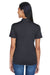 UltraClub 8404 Womens Cool & Dry Moisture Wicking Short Sleeve Polo Shirt Black Back
