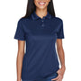 UltraClub Womens Cool & Dry Moisture Wicking Short Sleeve Polo Shirt - Navy Blue