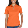 UltraClub Womens Cool & Dry Moisture Wicking Short Sleeve Polo Shirt - Orange