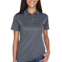UltraClub Womens Cool & Dry Moisture Wicking Short Sleeve Polo Shirt - Charcoal Grey