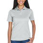 UltraClub Womens Cool & Dry Moisture Wicking Short Sleeve Polo Shirt - Grey